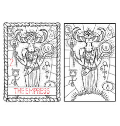 the empress vector image