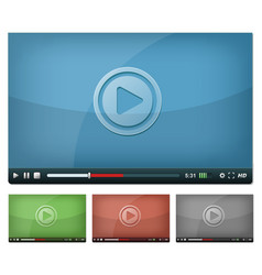 video player for web and tablet pc vector image vector image