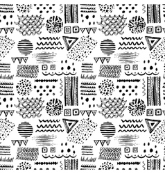 Abstract black and white seamless pattern with vector image vector image