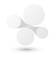 Bubble white infographics design vector image vector image
