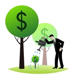 Growing money trees vector image vector image