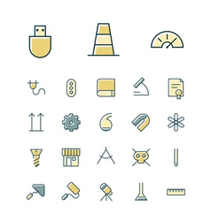 icons thin blue science industrial vector image vector image