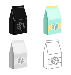 pet food icon in cartoon style isolated on white vector image vector image