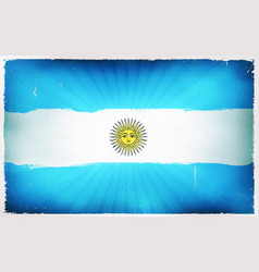 vintage argentina flag poster background vector image vector image