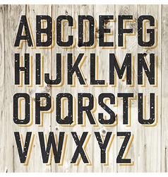 alphabet on wooden vector image