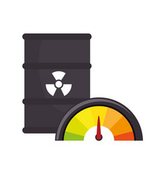 atomic tank isolated icon vector image