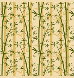 bamboo tree seamless background vector image vector image