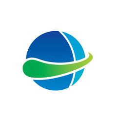 circle abstract logo design vector image vector image