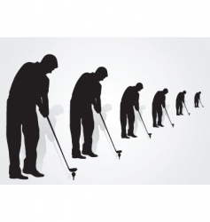golfers vector image vector image