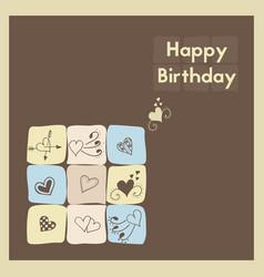 Greeting card happy birthday the birth postcard vector
