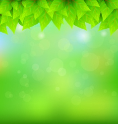 Natural green background vector image