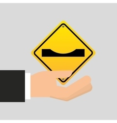 Road sign warning icon vector