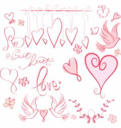 whimsical valentine vector image vector image