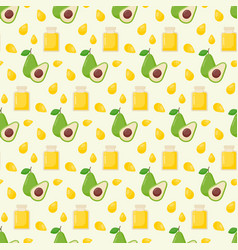 Avocado oil seamless pattern vector