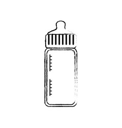baby bottle bow cartoon vector image