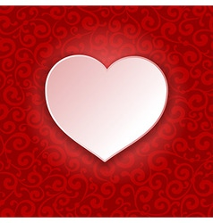 Beautiful background on Valentines Day vector image vector image