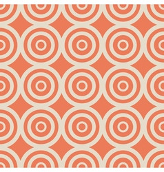 geometric seamless pattern vintage orange vector image