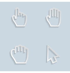Paper Hand Cursors vector image vector image