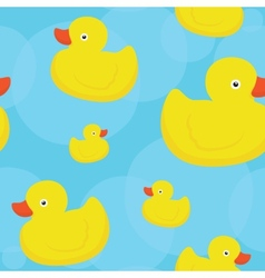 Rubber duck blue pattern vector