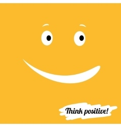 Think positively vector image vector image