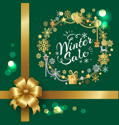 winter sale with presents vector image