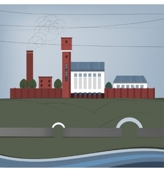 01 City Factory vector image