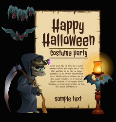 a poster on theme halloween holiday vector image