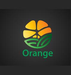 Abstract orange fruit farm garden barn logo vector