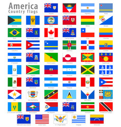 American national flag icon set vector