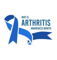 Arthritis awareness month vector