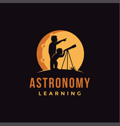 Astronomy learning logo icon vector