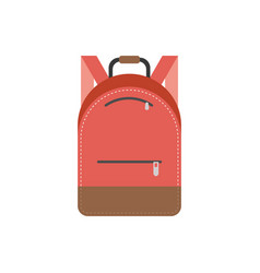 bag pack icon flat design vector image