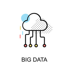 Big data graphic icon vector