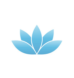 blue lotus symbol spa and wellness theme design vector image