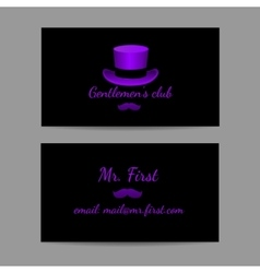 Business horizontal card is great men vector
