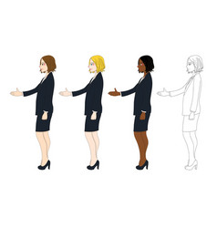 business woman hand shake vector image