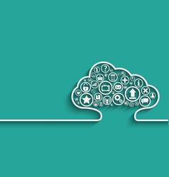 Cloud Apps concept vector