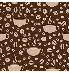 Coffee cap pattern beige vector
