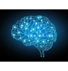 concept of brain vector image