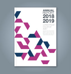 cover annual report 1182 vector image
