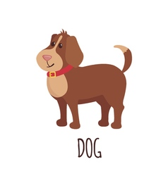 Cute dog in flat style vector