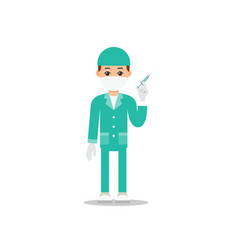 doctor isolated young physician stands and holds vector image