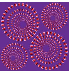 eccentric rotating circle vector image