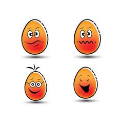 emoticon eggs symbol vector image