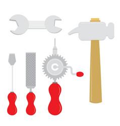 Equipment tool handcraft cartoon vector