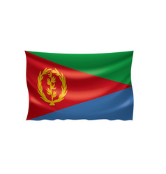 eritrea flag on a white vector image