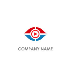eye music play logo vector image