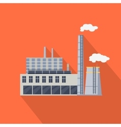 Factory Building in Flat vector image
