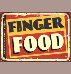 Finger food amazing diner sign design vector