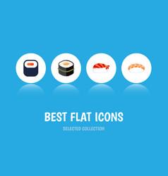 Flat icon sashimi set of seafood gourmet sushi vector